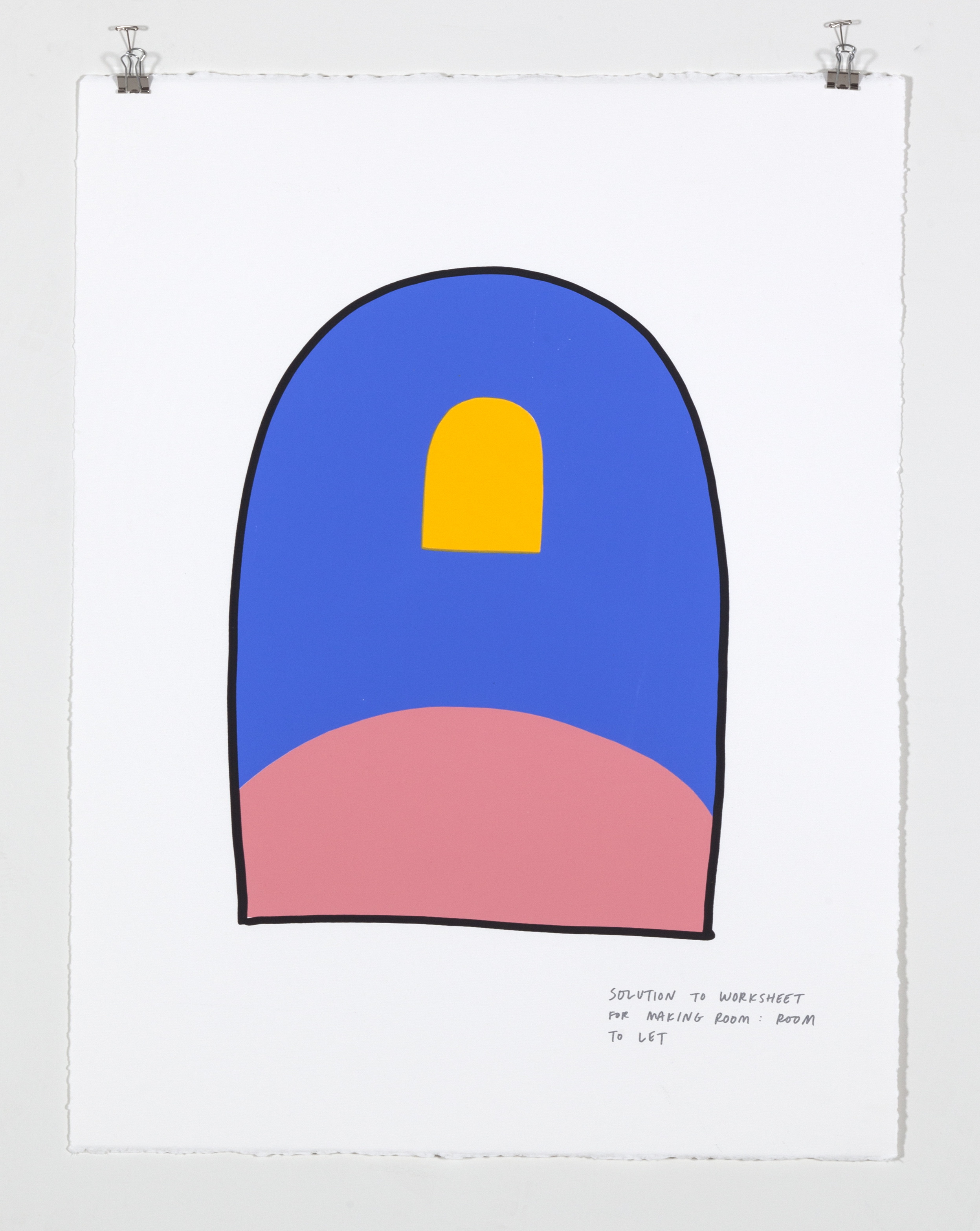Solution to Worksheet for Making Room: Room to Let,  2018  Five color silkscreen print on paper 19 7/8 x 25 7/8 inches