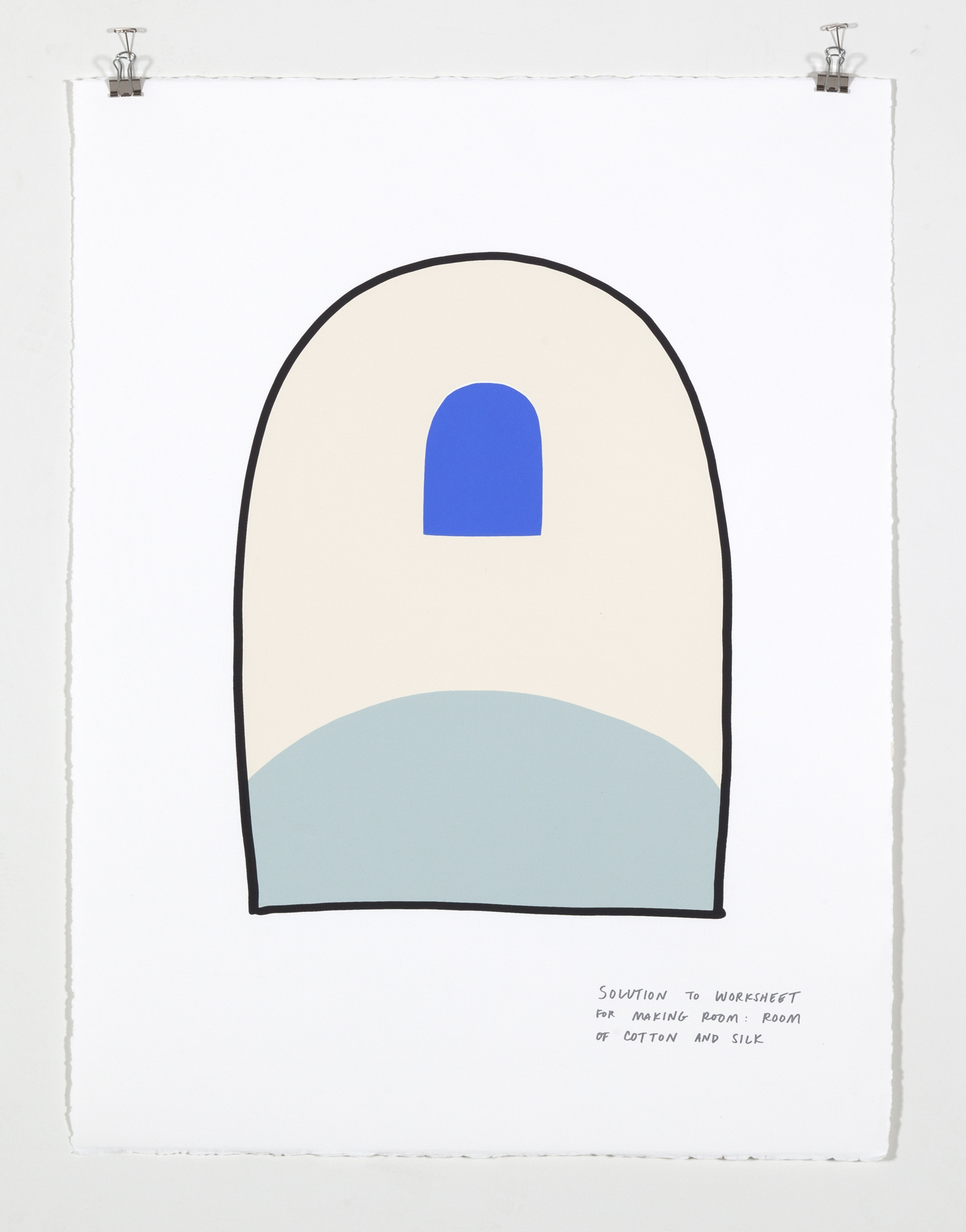 Solution to Worksheet for Making Room: Room of Cotton and Silk,  2018  Five color silkscreen print on paper 19 7/8 x 25 7/8 inches