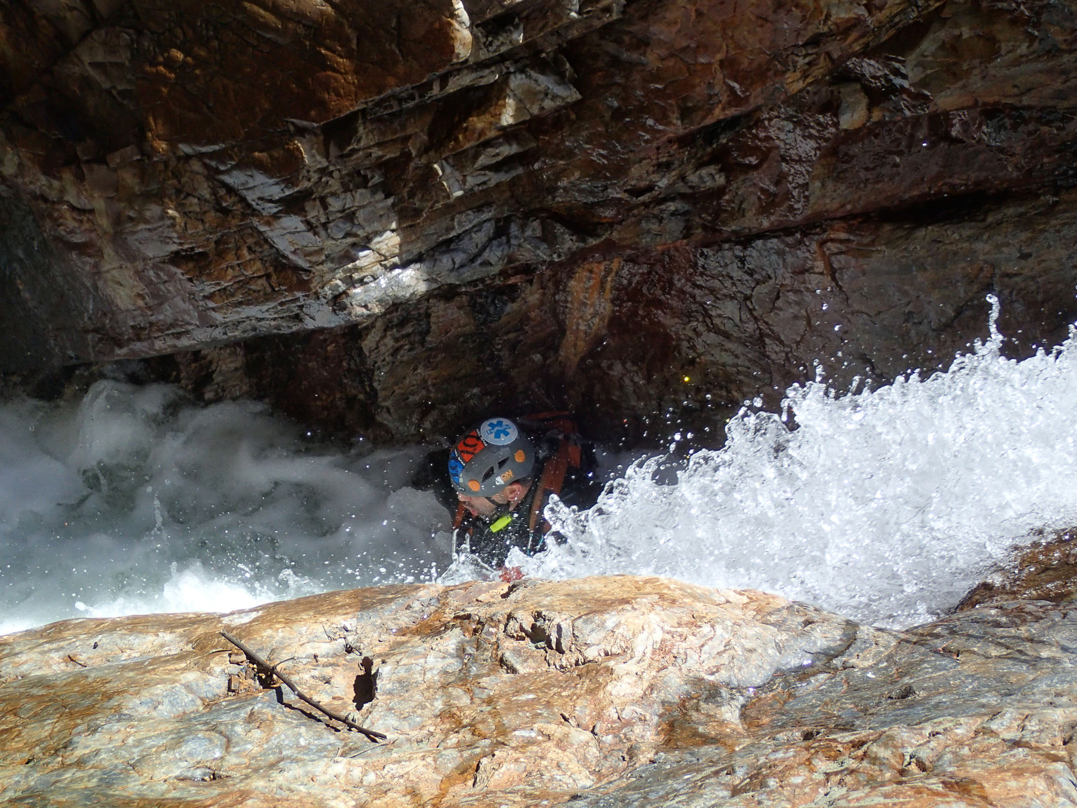 Jeremy riding the flow in Upper Uncompahgre