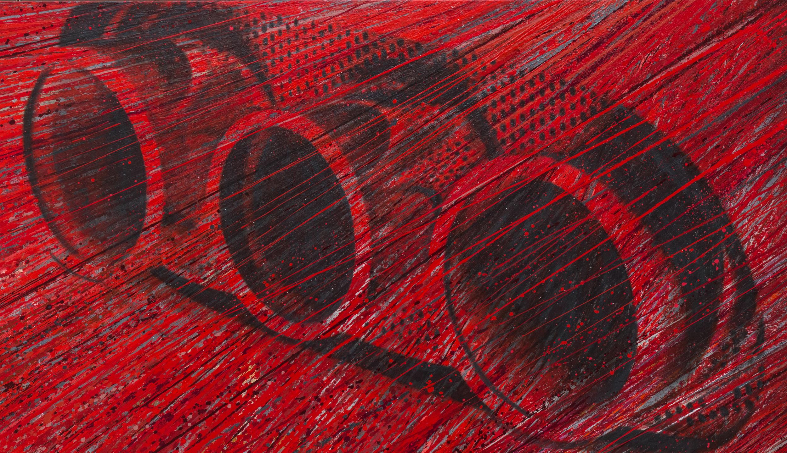 """Ferrari 458   Acrylic & Print on Canvas, 58"""" x 100"""""""