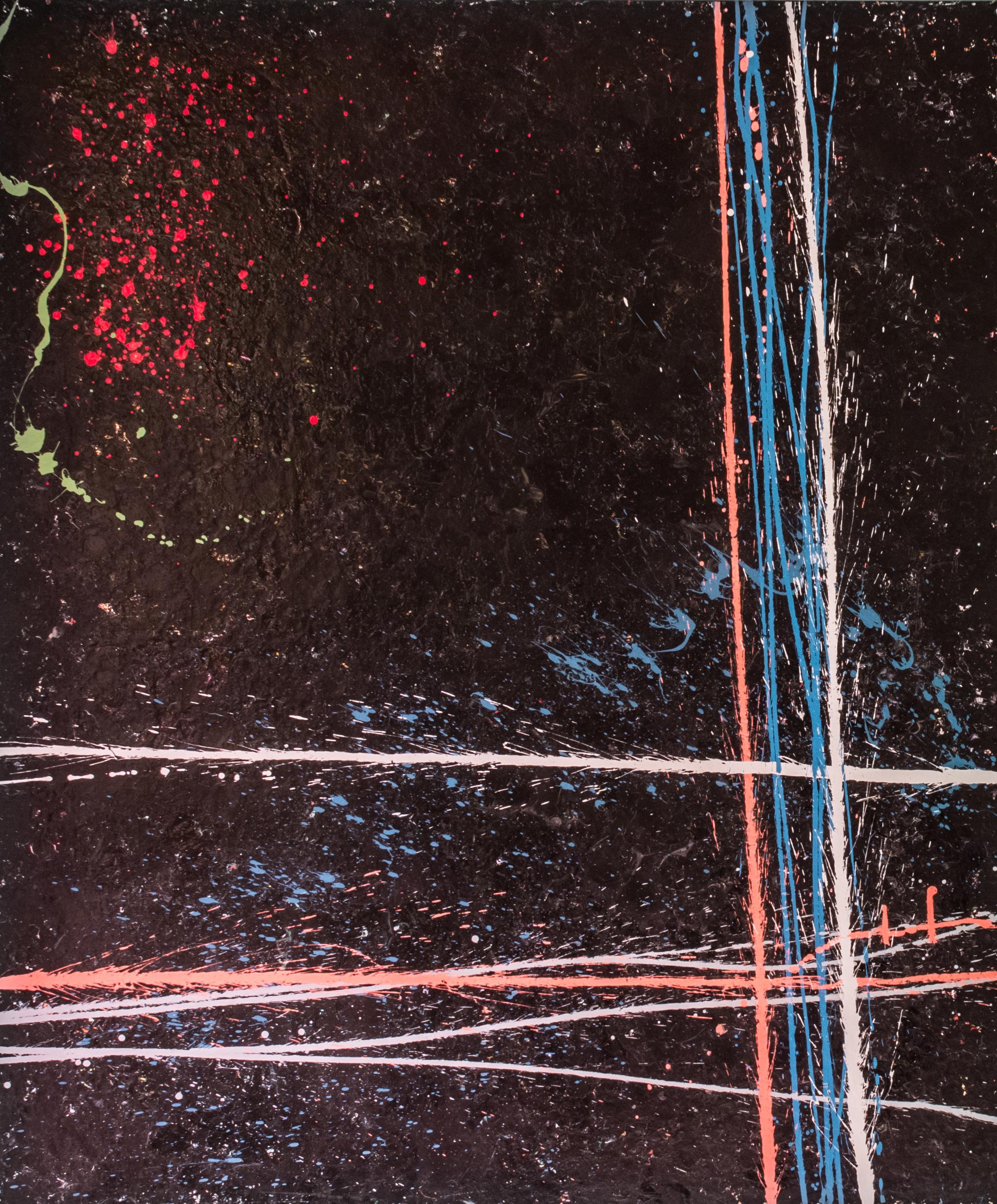 "The Girl  Acrylic on Canvas with Creation Animation, 72"" x 60"""
