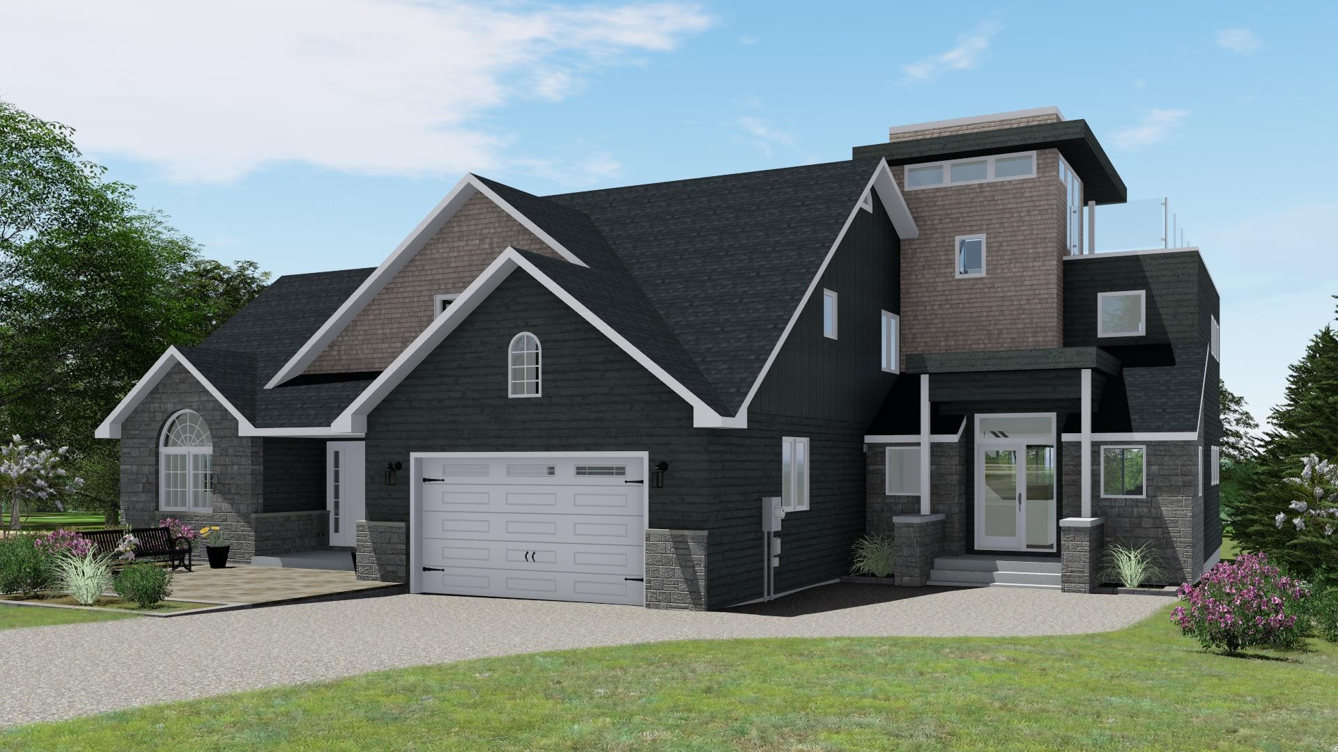 Option 3 - Shed w/ Flat Roof