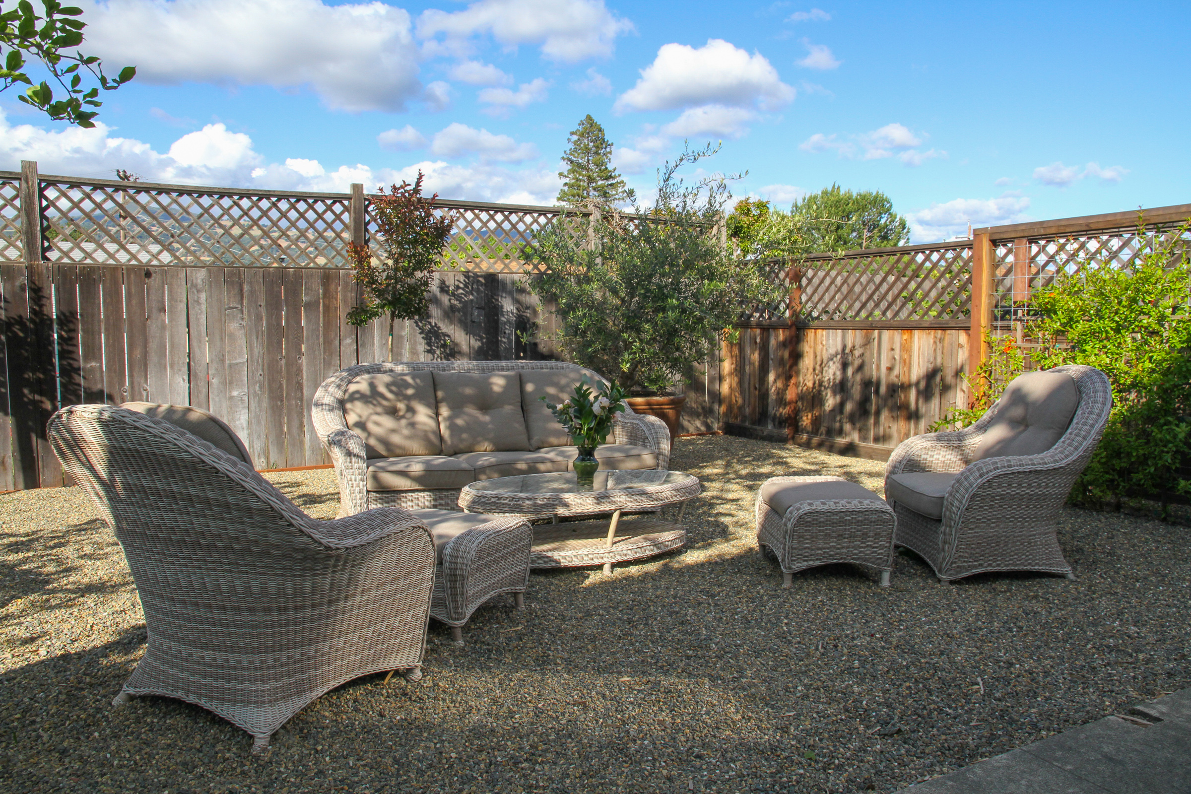 Private yard outdoor area.
