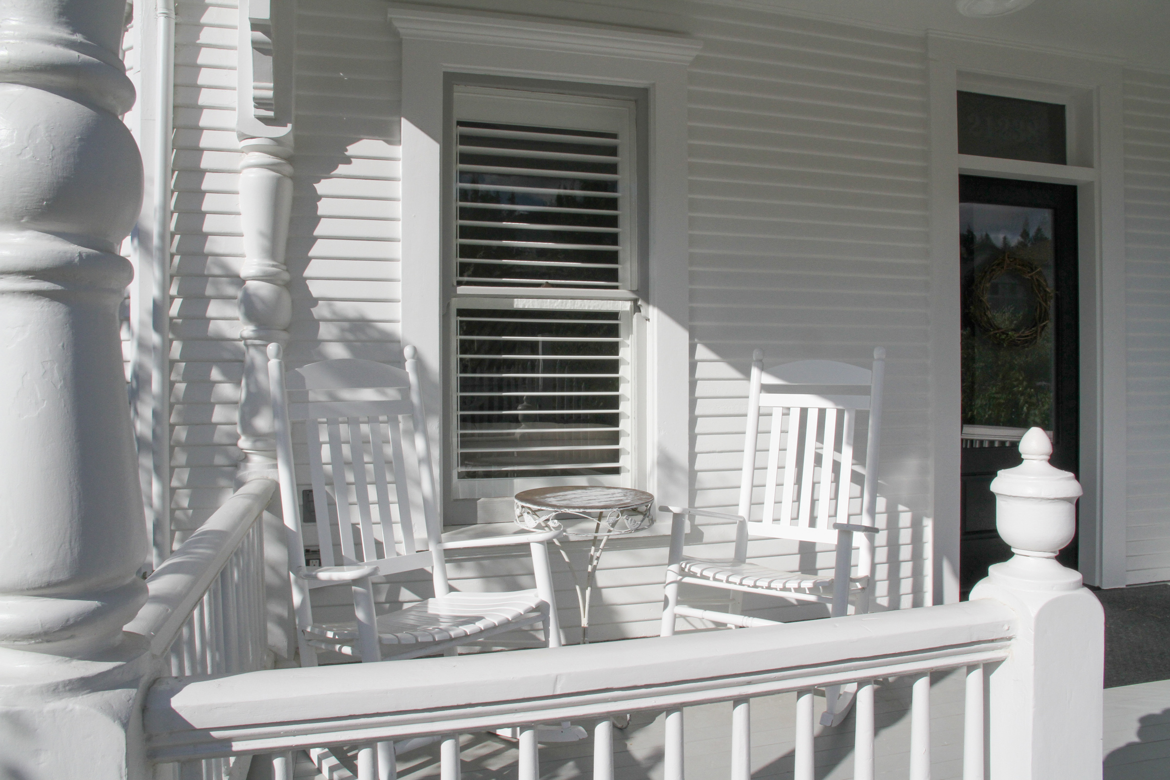 Spend a few quiet minutes on the porch in the morning watching this small town (population 862) come to life.