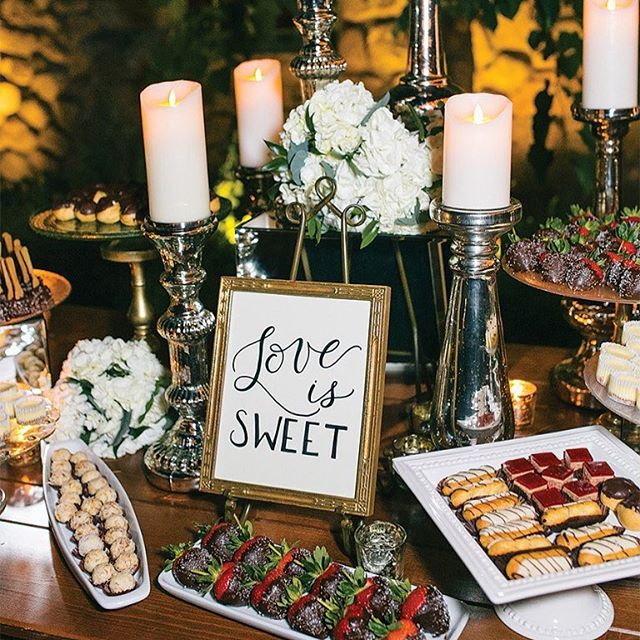 This BEAUTIFUL summer wedding was just featured in @bostonmagazine. All the 😍 for wedding dessert bars! #LoveisSWEET 📷: @zevfisherphotography