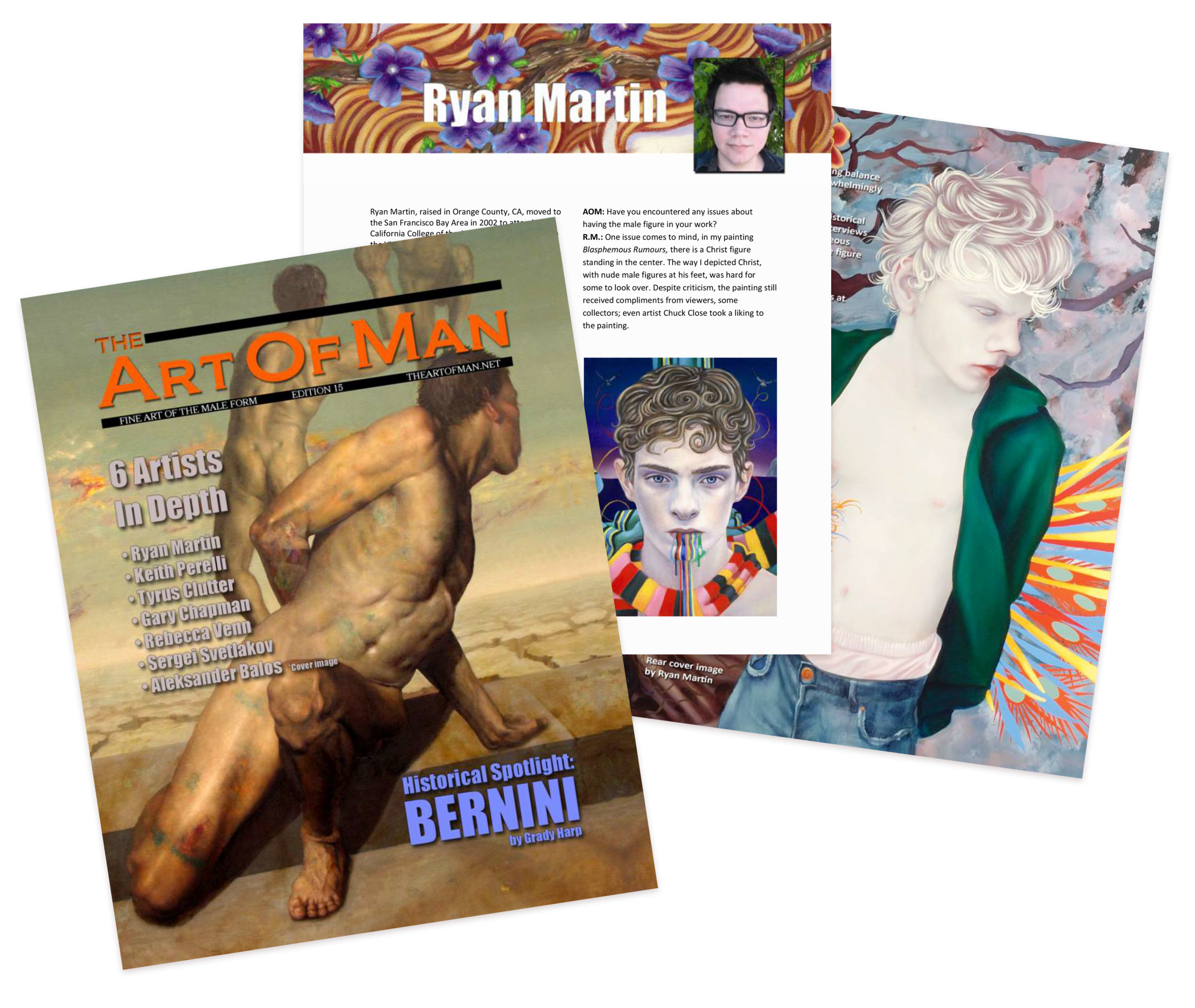 Oil paintings featured in   The Art of Man,  and interview. Painting featured on rear cover.
