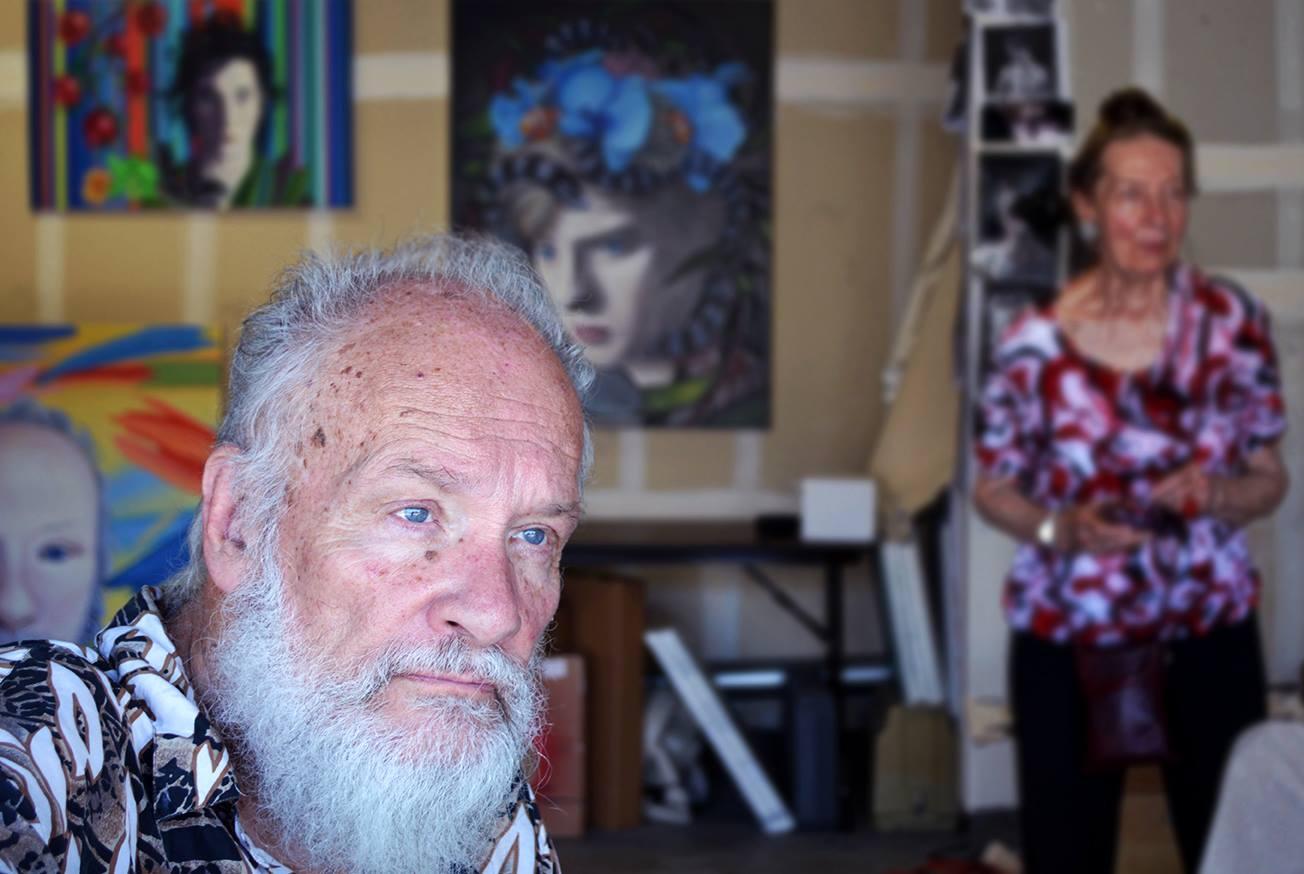 Ryan Martin's studio, with film artist Mike Kuchar