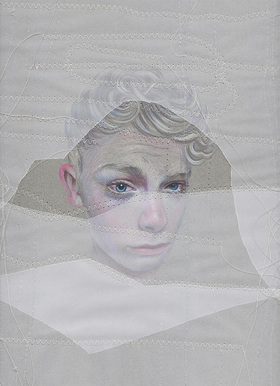 Sewn in White