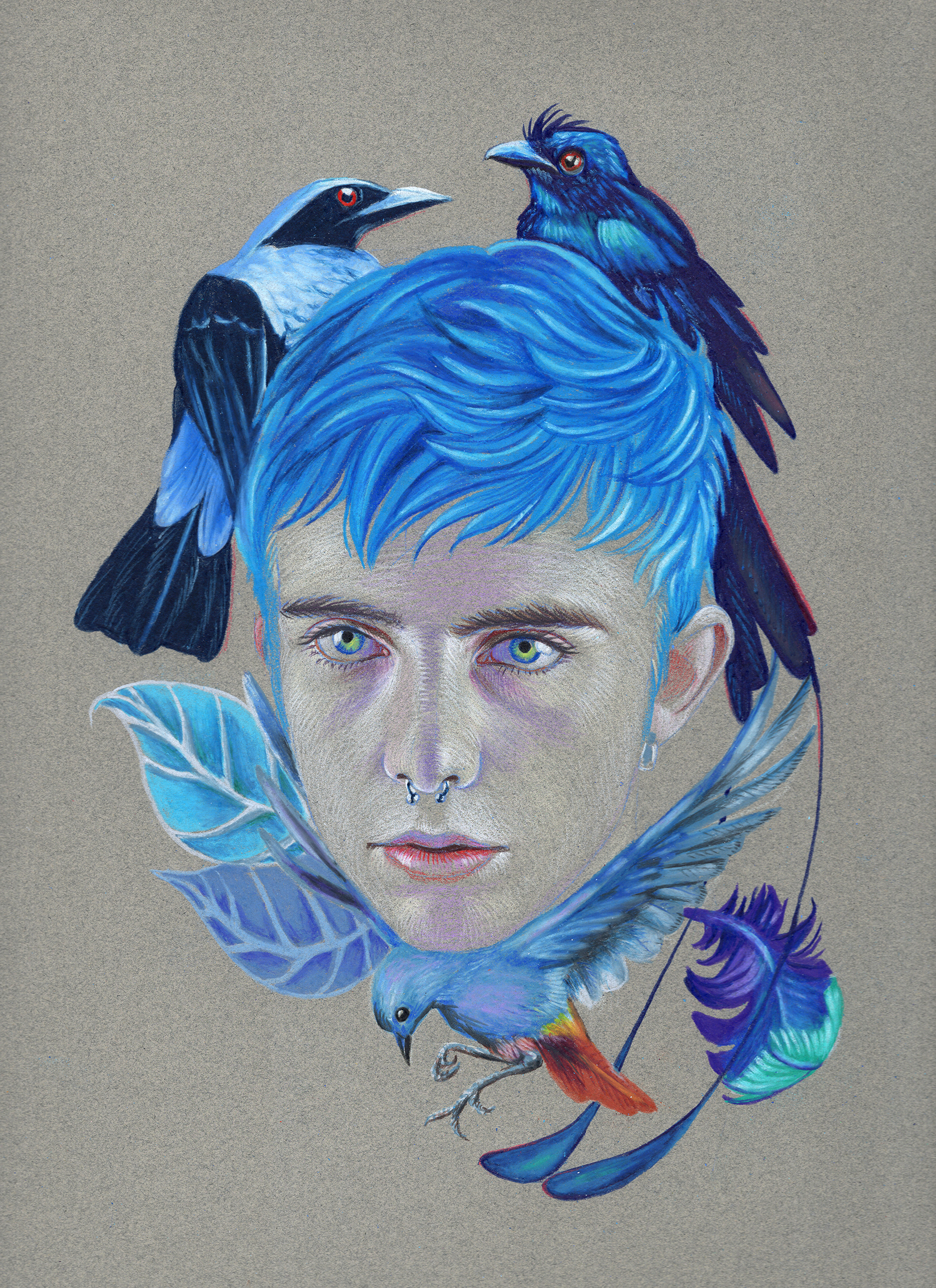 *Blue Like Him (Color Pencil on paper, 12 x 9 in., 2019).jpg