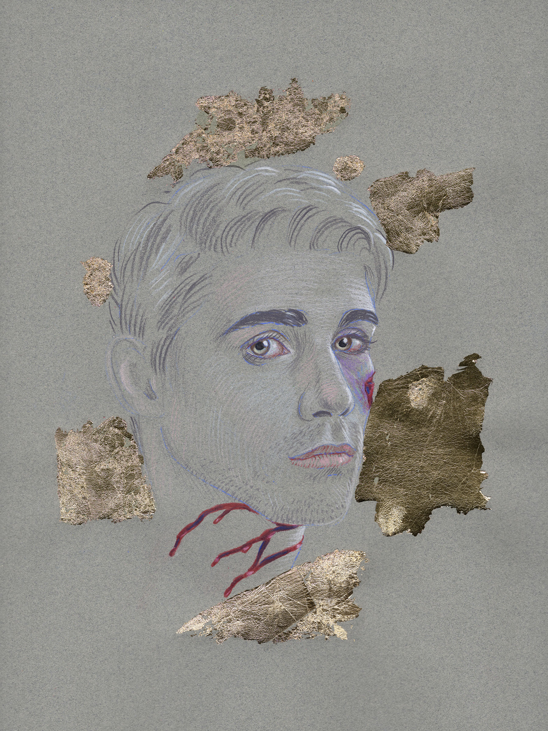 *Feeling Alright (12 x 9 in, colored pencil & gold leaf on paper, 2019) copy.jpg