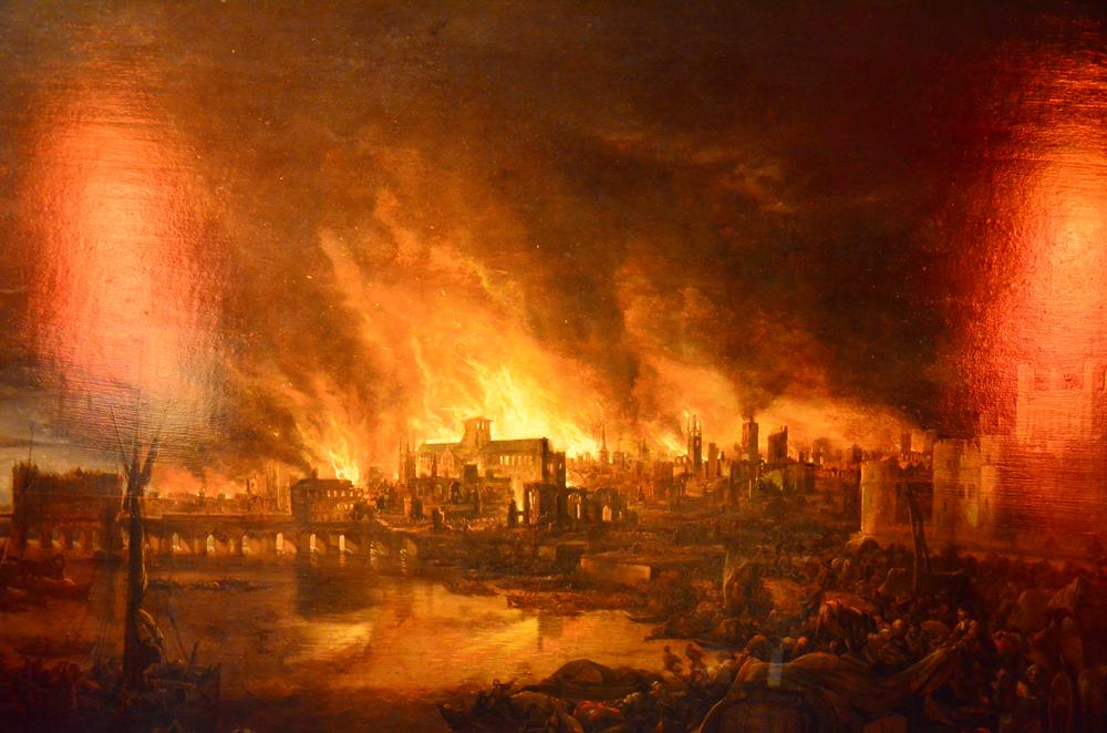 Great Fire of London by unknown artist