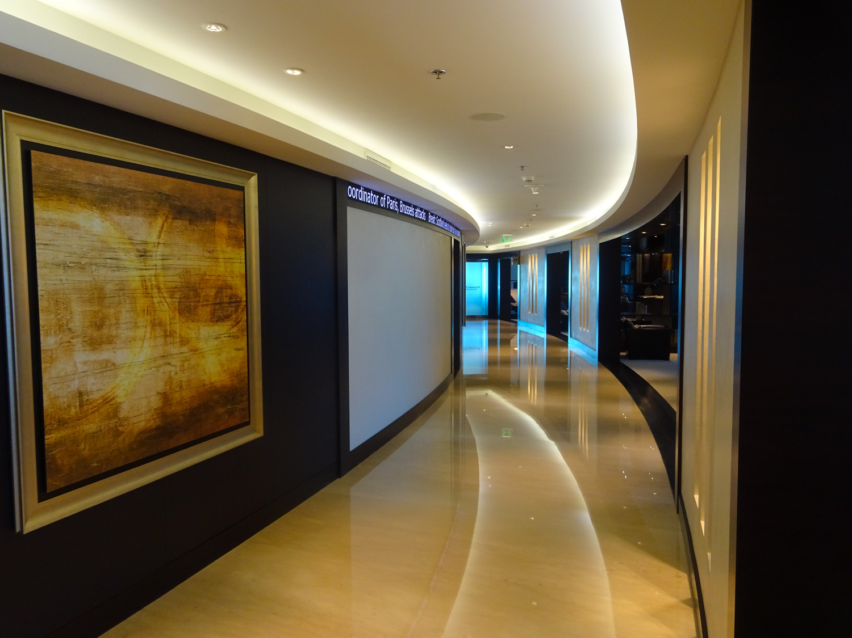 Entrance to the Executive Lounge - JW Marriott Marquis Dubai  Photo: Calvin Wood