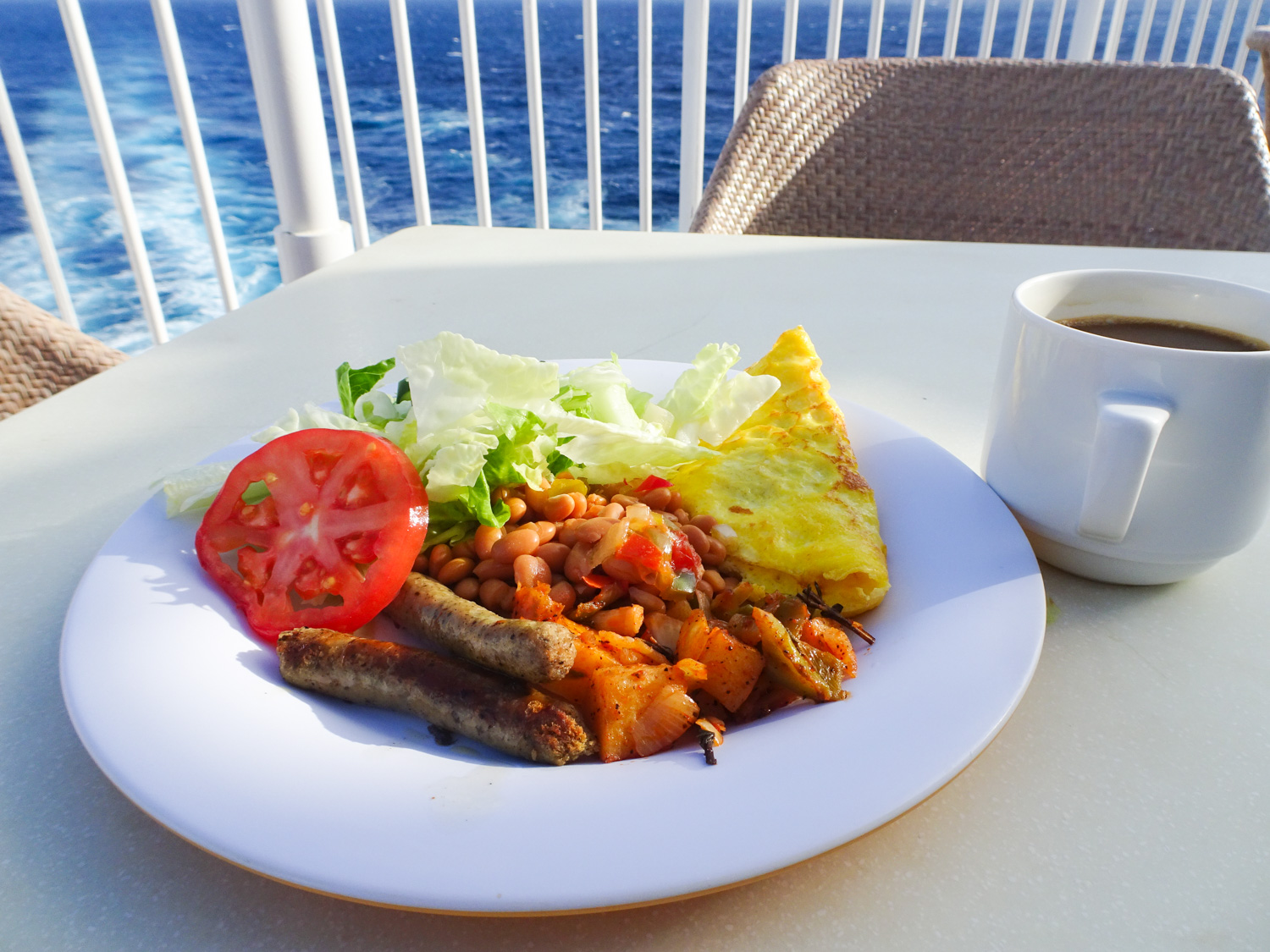Breakfast with a View - The Great Outdoors - NCL Gem Photo: Calvin Wood