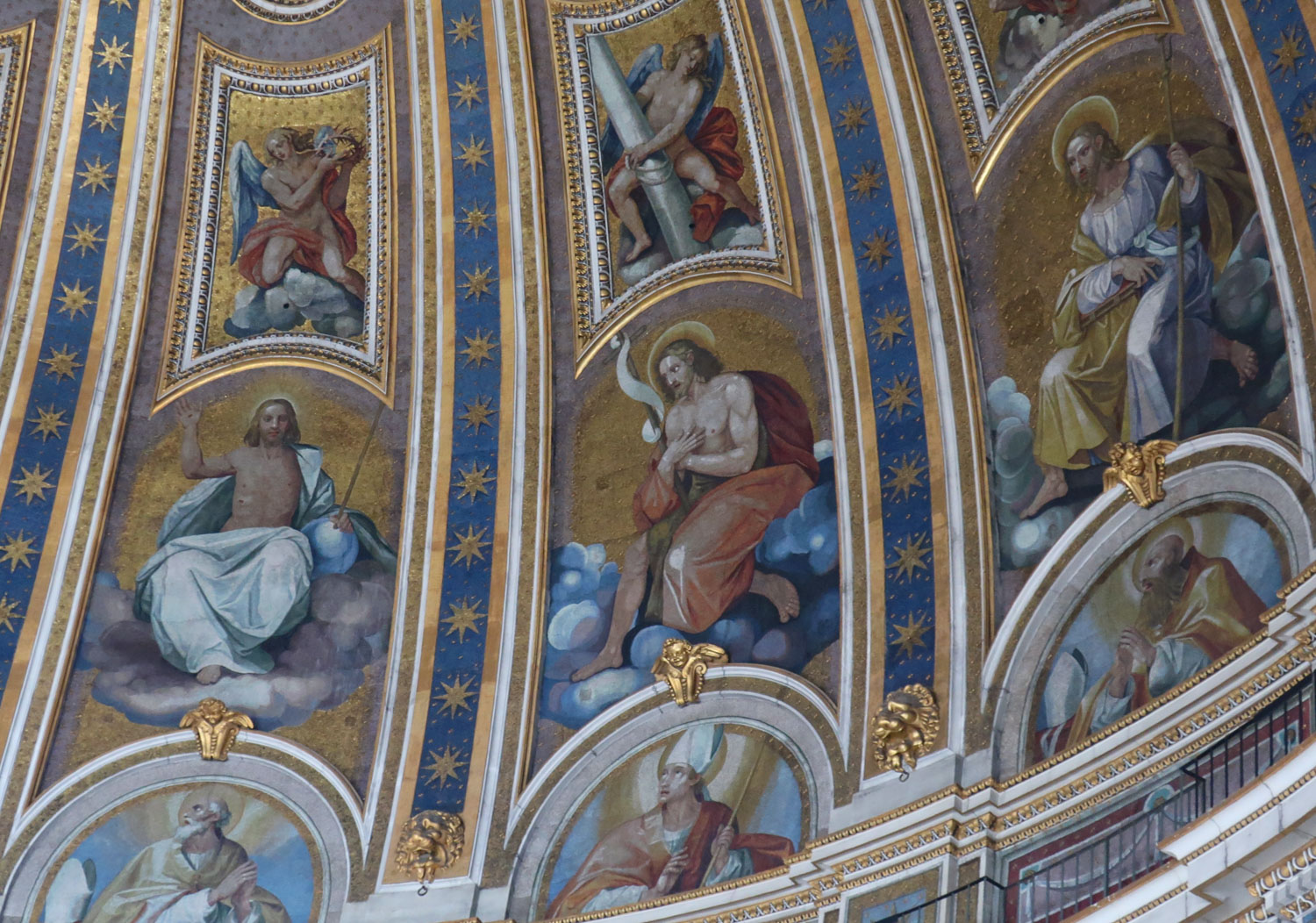 Detail of Cupola - Mosaics - St Peter's Basilica Rome   Photo: Calvin Wood