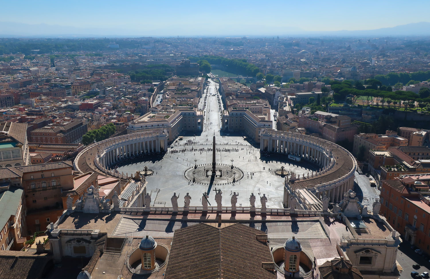 View from the Top of St. Peter's Basilica Rome   Photo: Calvin Wood