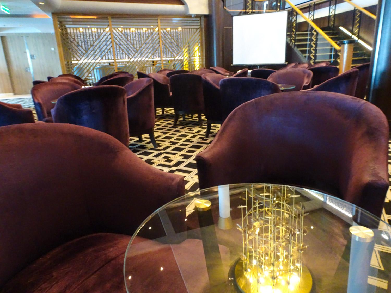Comfy Seating at Gatsby's - NCL Dawn  Photo: Calvin Wood