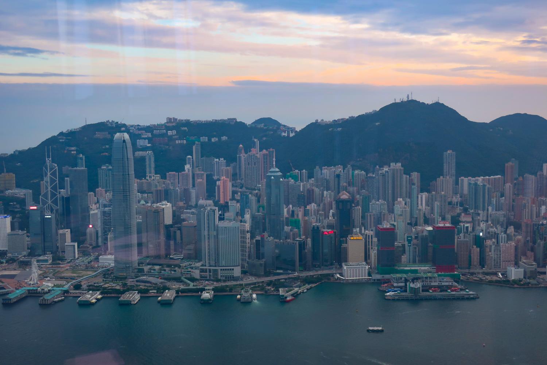 View from Café 103 - Ritz Carlton Hong Kong Photo: Calvin Wood