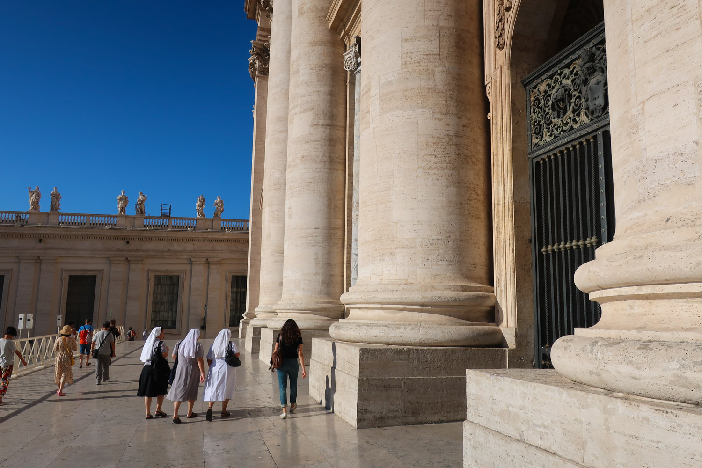 Imposing Columns at St. Peters - Rome  Photo: Calvin Wood