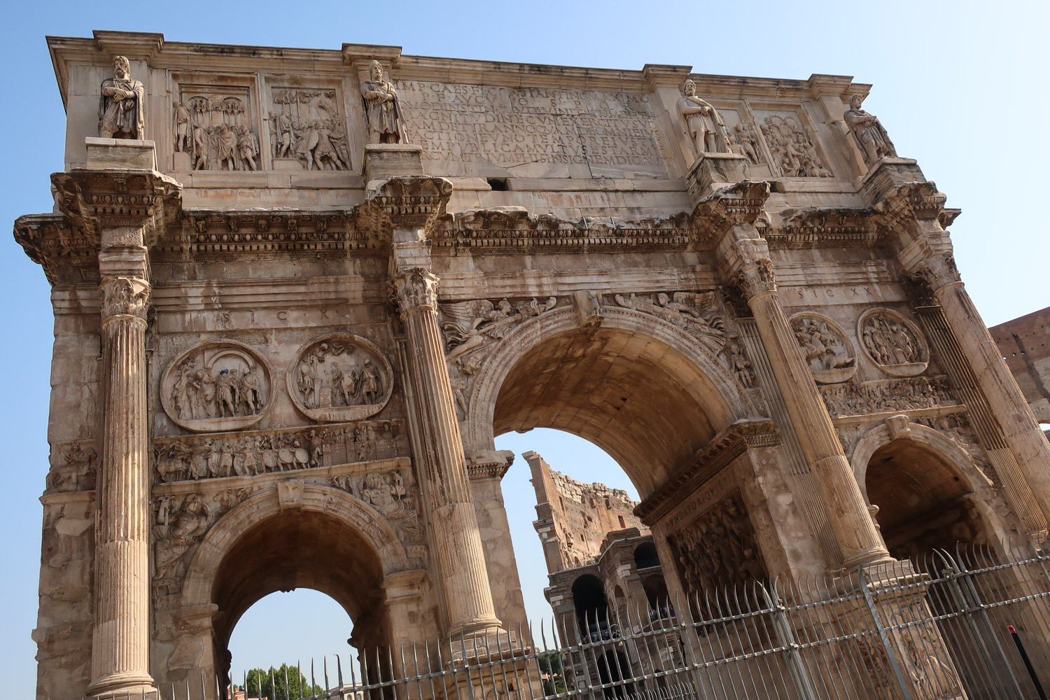 The Arch of Constantine - Rome  Photo: Calvin Wood
