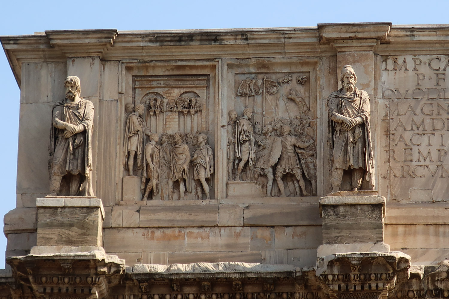 The Arch of Constantine - Detail  Photo: Calvin Wood