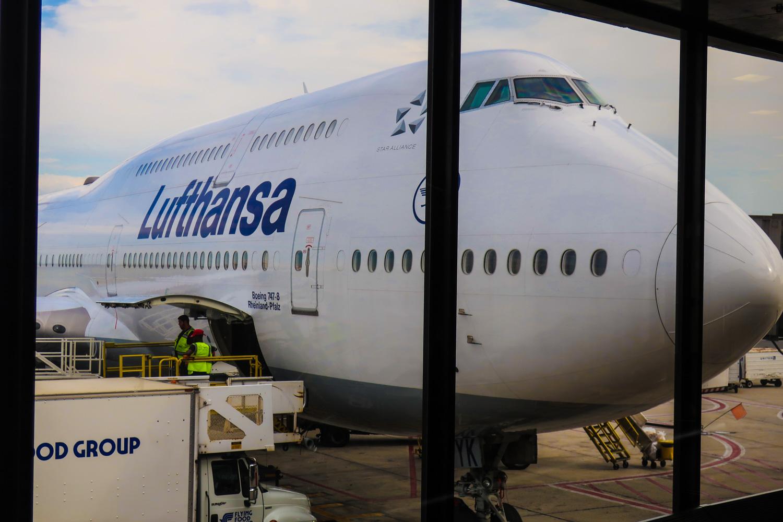 Lufthansa Boeing 747-800  Photo: Calvin Wood