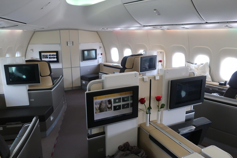 Lufthansa First Class Cabin - Boeing 747-800  PhotoL Calvin Wood