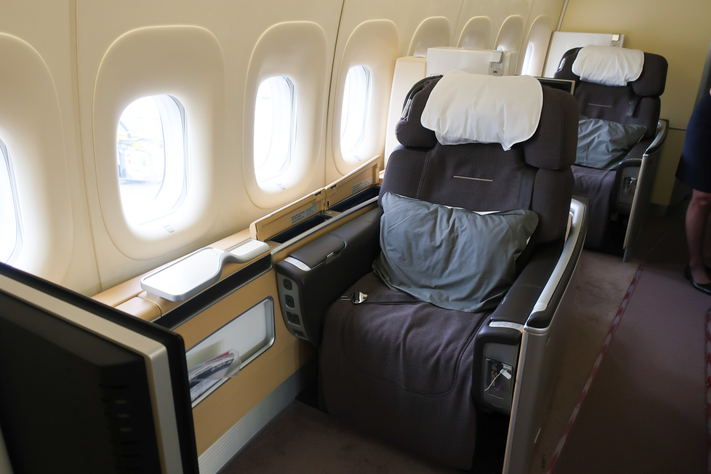 First Class Cabin - Window Seating - Lufthansa  Photo: Calvin Wood
