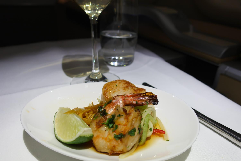Shrimp & Prawn Appetizer - LH First Class  Photo: Calvin Wood