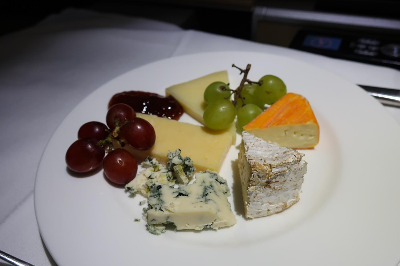 Cheese Plate - Lufthansa First Class  Photo: Calvin Wood