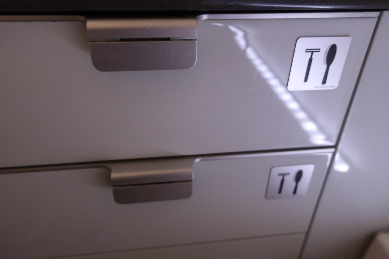 First Class Supplies in Bathroom - Lufthansa  Photo: Calvin Wood