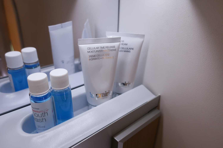 Mouthwash & Hand Creams! Lufthansa First Class Restroom  Photo: Calvin Wood