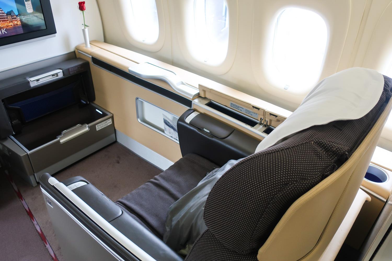 First Class Seat - Lufthansa  Photo: Calvin Wood