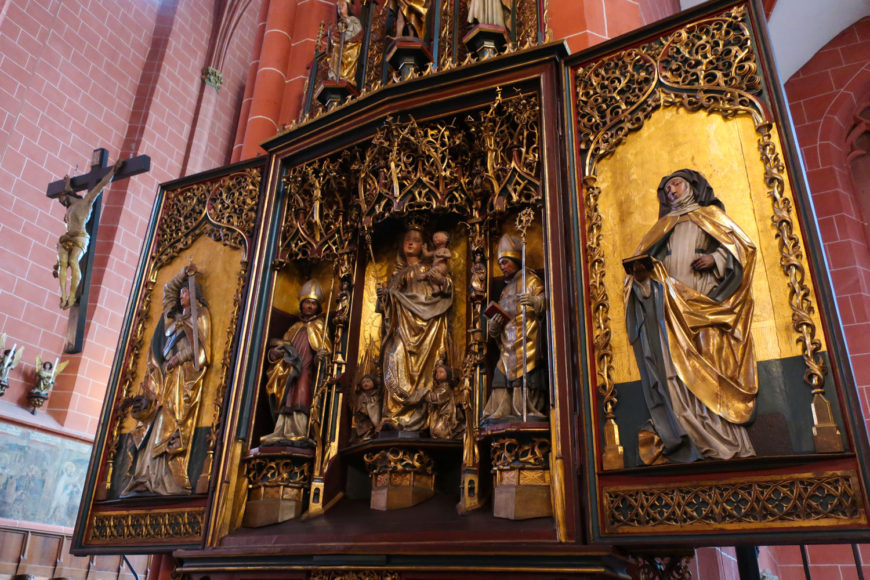 Artwork in  St. Bartholomaus  - Frankfurt  Photo: Calvin Wood