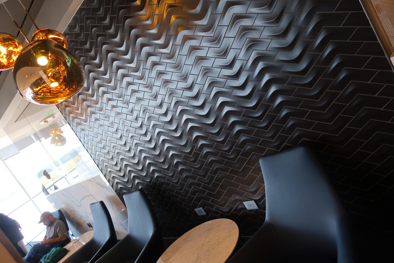Cool Tiling -  Polaris Lounge  Houston - United Airlines  Photo: Calvin Wood