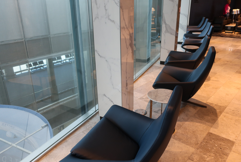 Seating Area -  Polaris Lounge  Houston - United Airlines  Photo: Calvin Wood
