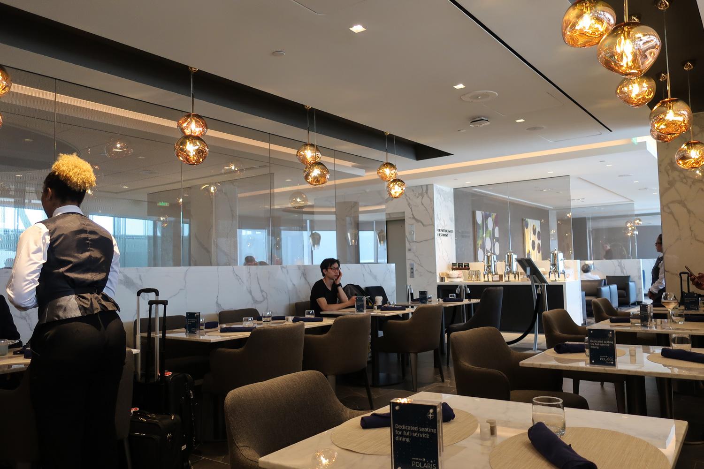 Full Service Dining Area - Houston Polaris Lounge  Photo: Calvin Wood