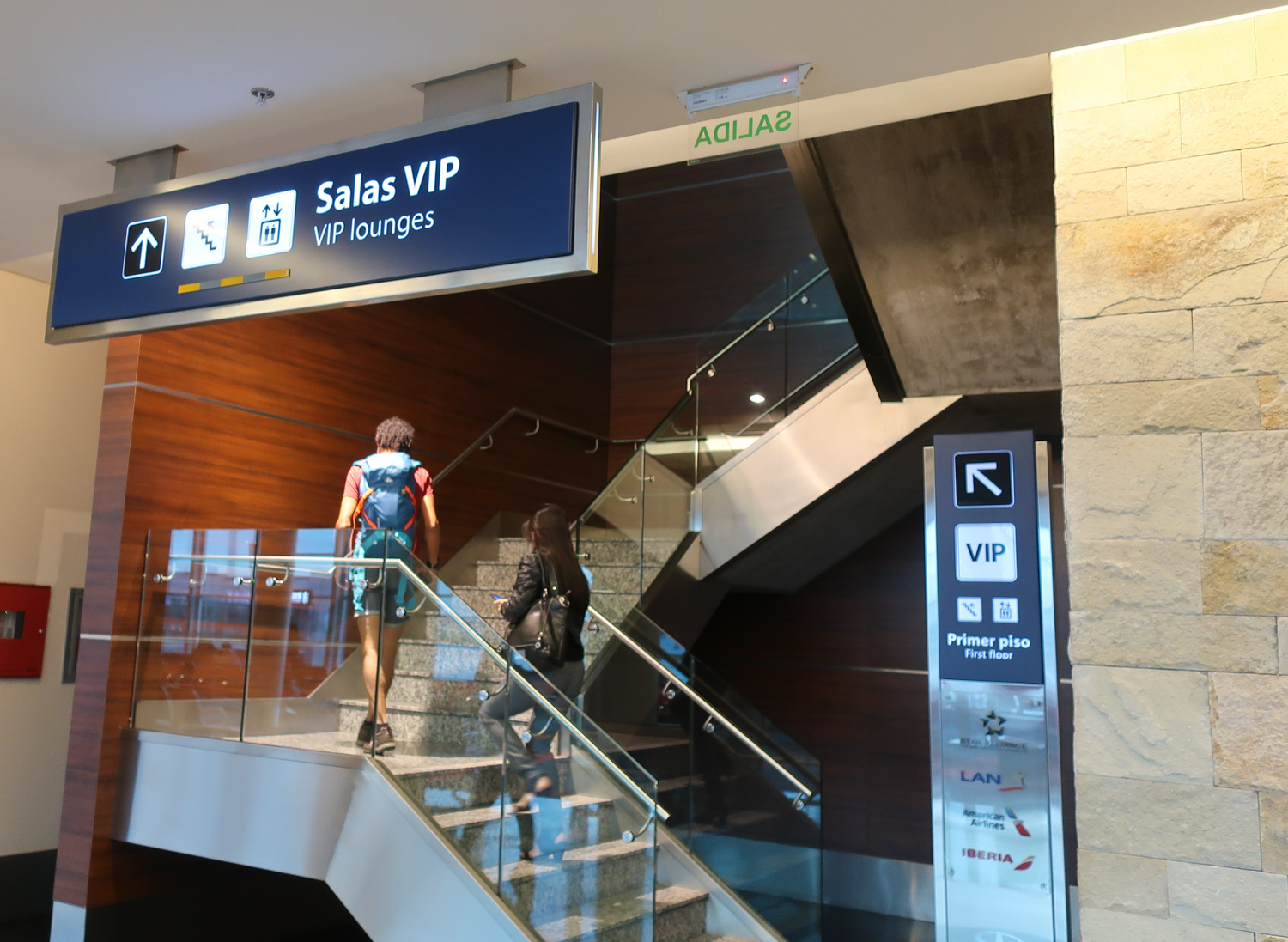 Stairs to Star Alliance Lounge Buenos Aires    Photo: Calvin  Wood