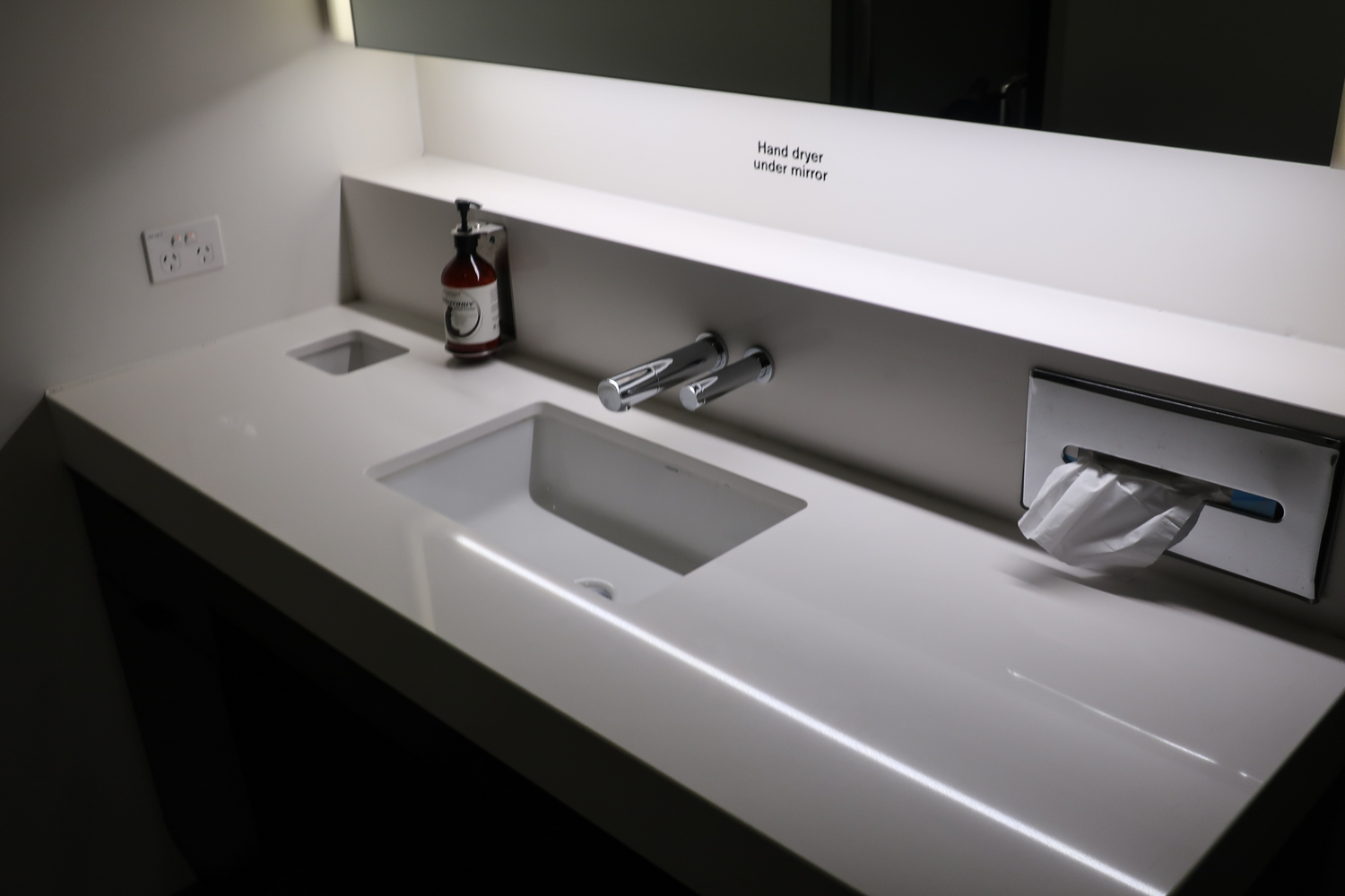Vanity In Shower Units - Air New Zealand Lounge Sydney  Photo: Calvin Wood