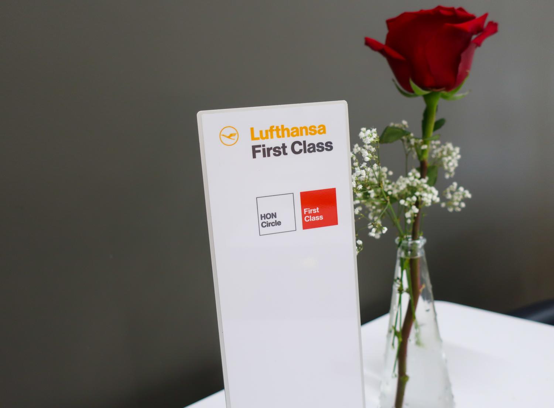 Reserved Tables for First Class Passengers - Lufthansa Senator Lounge Newark  PhotoL Calvin Wood
