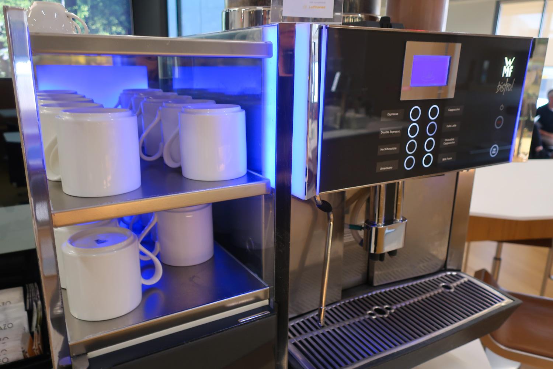 WMF Coffee Machine - Lufthansa Senator Lounge Newark  Photo: Calvin Wood