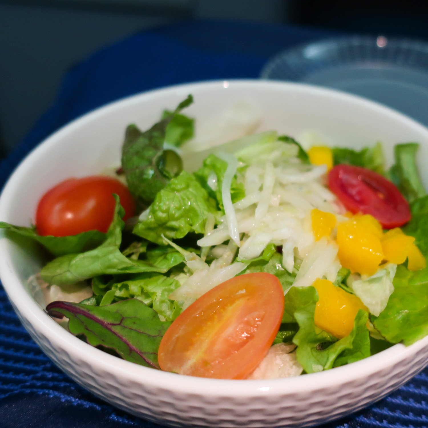 Salad - United Airlines Business Class  Photo: Calvin Wood