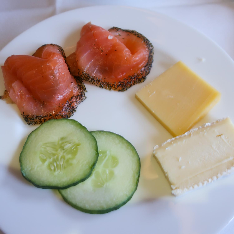Breakfast Selection- Lufthansa First Class  Photo: Calvin Wood