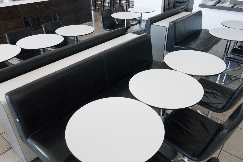 Dining Area - Swiss Business Lounge JFK  Photo: Calvin Wood