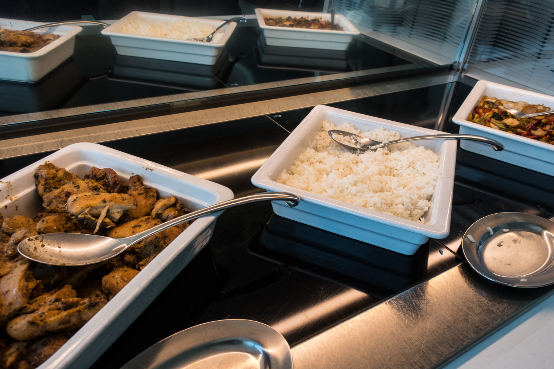 Hot Food - Swiss Business Lounge JFK  Photo: Calvin Wood
