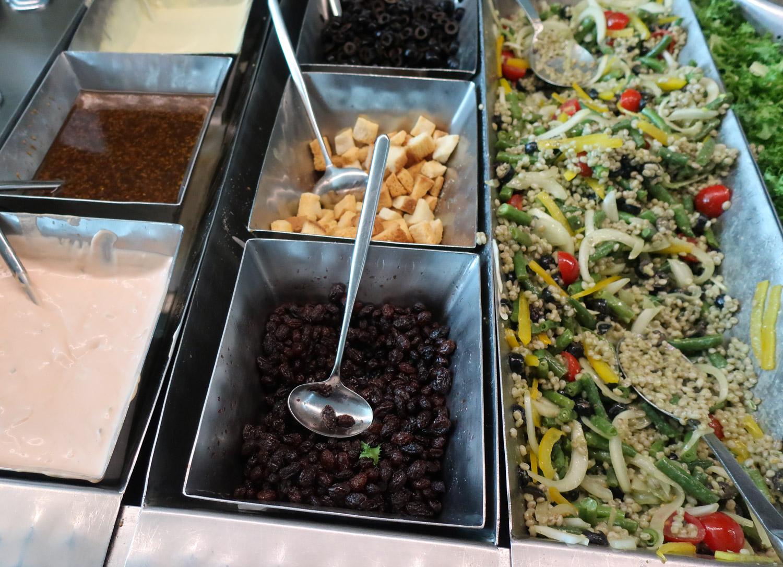 Salad Bar - Asiana Business Class Lounge - Seoul  Photo: Calvin Wood