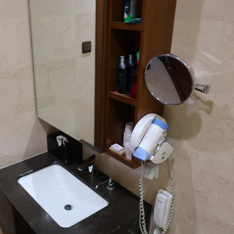Vanity - Shower Stalls - Asian Lounge - Seoul  Photo: Calvin Wood
