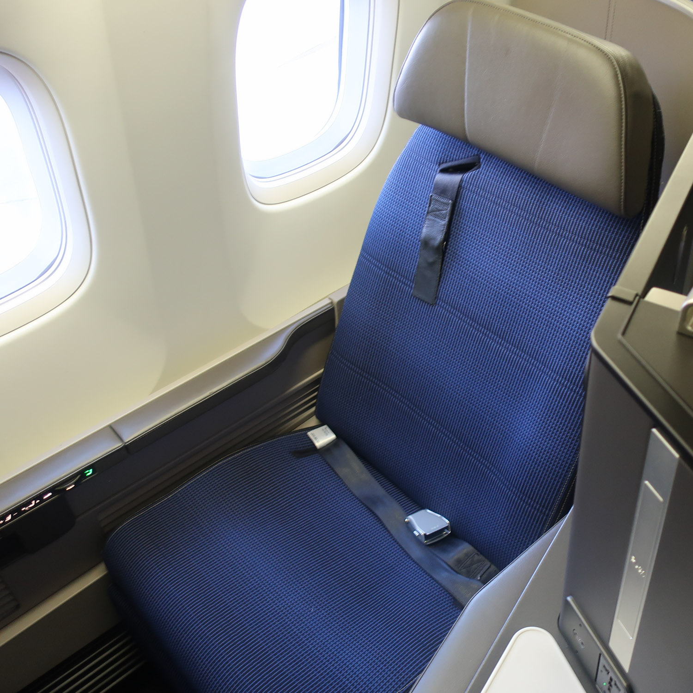 Window Seat 9F - United Polaris Class B767 - Photo: Calvin Wood