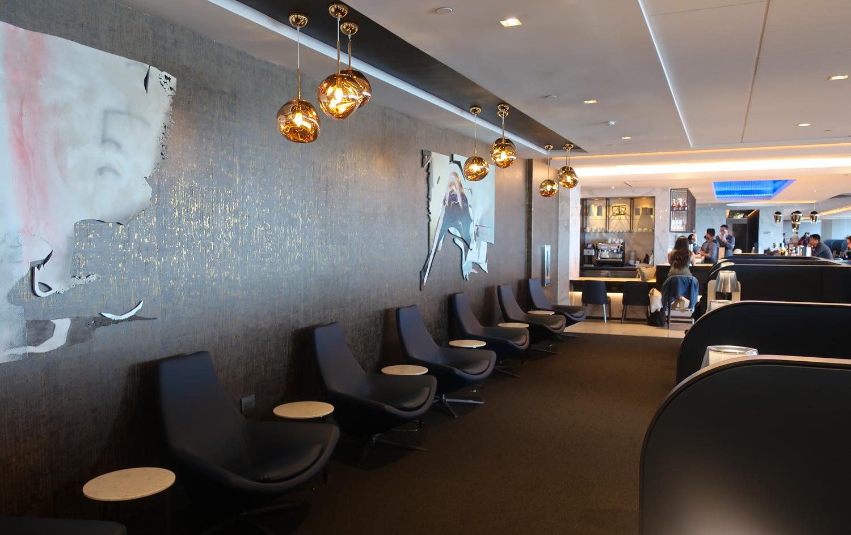Seating Area - United Polaris Lounge - San Francisco  Photo: Calvin Wood