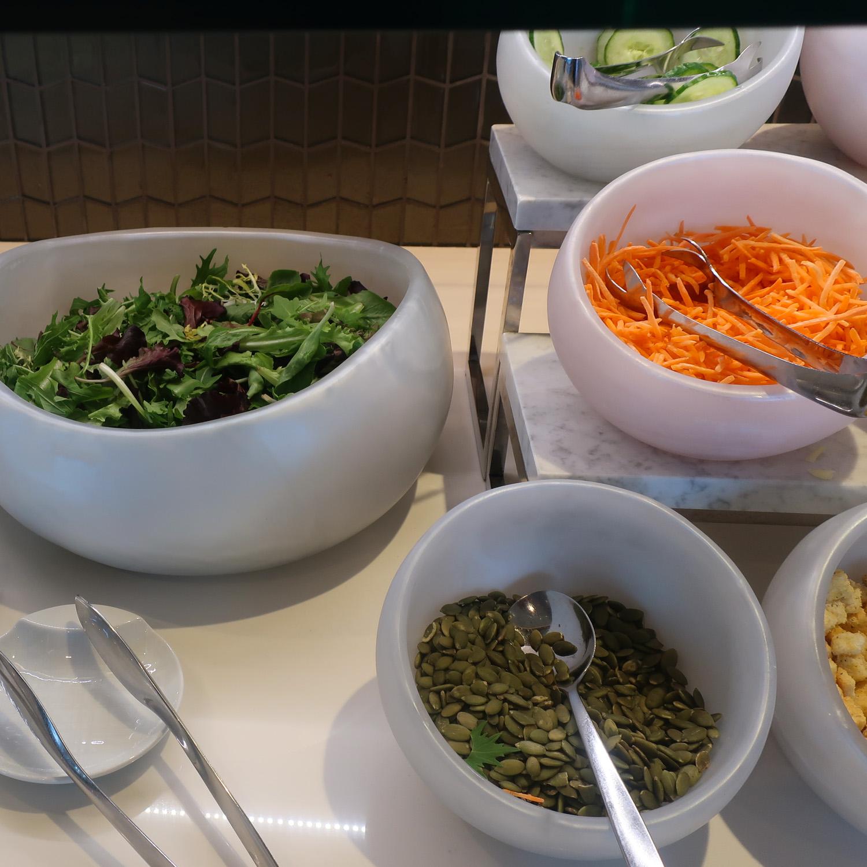 Salads - United Polaris Lounge  -  San Francisco  Photo: Calvin Wood