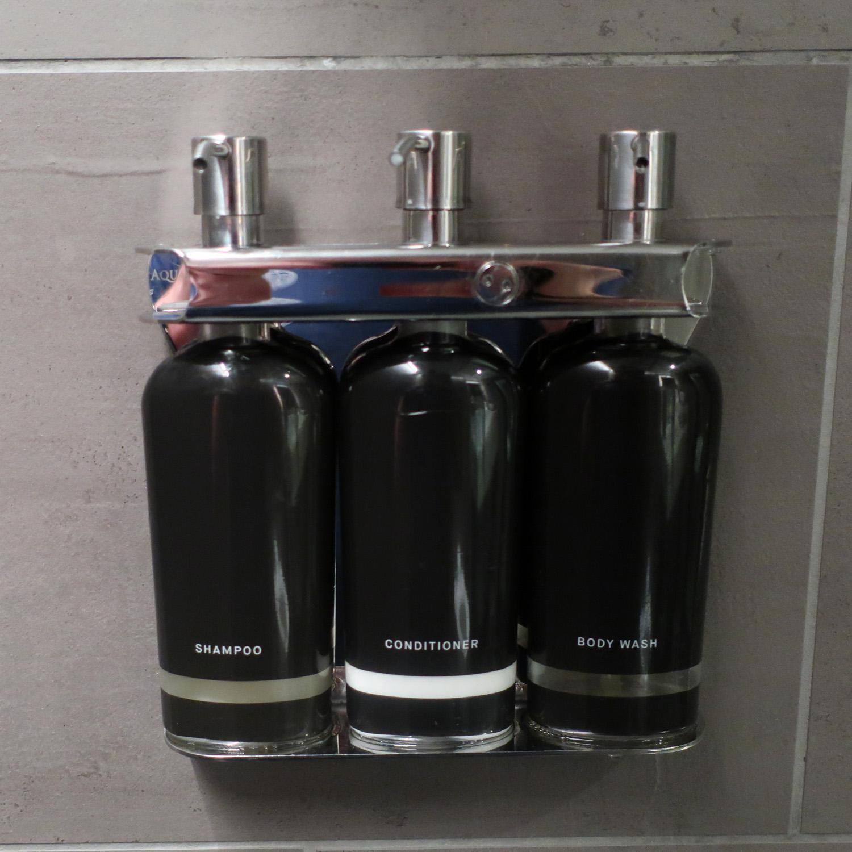 Bath Products - United Polaris Lounge - San Francisco  Photo: Calvin Wood